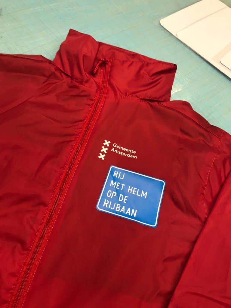 Bedrukte kleding voor Gemeente Amsterdam - Textieldruk