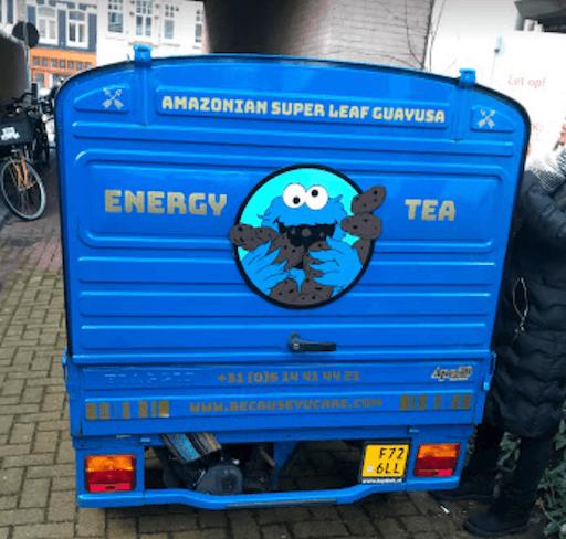 Bestickering busje van Energy Tea - Bestickering