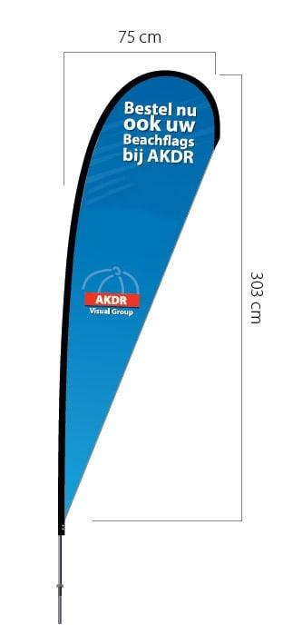Beachflag druppel model