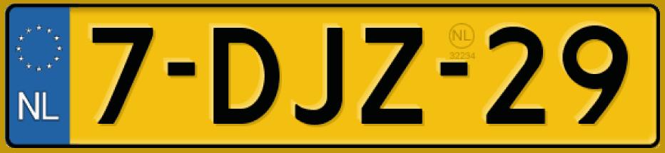 Gele kentekenplaat bij een RDW kentekenplaatfabrikant