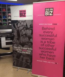 Roll-up banners voor Sis in BIZ