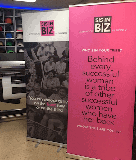Roll-up banners voor Sis in BIZ